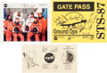 Autographs:Celebrities, Space Shuttle Columbia (STS-87) Crew-Signed Color Photo andGate Pass. ... (Total: 3 )