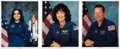 Autographs:Celebrities, Space Shuttle Columbia (STS-107) Individually-Signed Photosof Three Crewmembers with Various Memorial Items. ... (Total: 7Items)