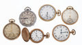Timepieces:Pocket (post 1900), A Lot Of Six Pocket Watches For Parts Or Repair. ... (Total: 6Items)