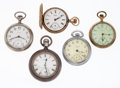 Timepieces:Pocket (post 1900), A Lot Of Five Pocket Watches For Parts Or Repair. ... (Total: 5 Items)
