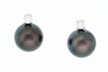 Estate Jewelry:Earrings, Cultured Pearl, Clear Stone, White Gold Earrings. ...