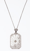 Estate Jewelry:Necklaces, Rock Crystal Quartz, White Gold Necklace. ...