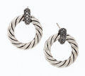 Estate Jewelry:Earrings, Diamond, Sterling Silver Earrings, David Yurman. ...