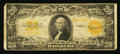 Large Size:Gold Certificates, Fr. 1187 $20 1922 Gold Certificate Very Good.. ...