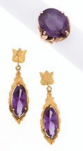 Estate Jewelry:Suites, Synthetic Color Change Sapphire, Gold Jewelry Suite. ... (Total: 2Items)