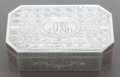 Silver Holloware, American:Boxes, A SHREVE & CO. SILVER LIDDED BOX. Shreve & Co., SanFrancisco, California, circa 1910. Marks: (S-bell-S), SHREVE& CO, STE...
