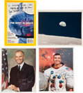 "Autographs:Celebrities, NASA Vintage Color Glossy ""Earthrise"" Photo with a Collection ofPre-Shuttle Era Memorabilia and Autographs.... (Total: 50 Items)"