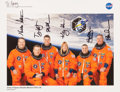 Autographs:Celebrities, Space Shuttle Endeavour (STS-130) Crew-Signed ColorPhoto....