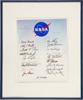 Autographs:Celebrities, NASA Group Five Astronauts: All Nineteen Signatures on NASAHand-Lettered Presentation Certificate. ...