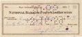 Autographs:Celebrities, Gus Grissom Signed 1959-Dated Check....