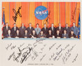 Autographs:Celebrities, NASA Group Five Astronauts: Lithograph Signed by Nine. ...