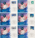 Autographs:Celebrities, Association of Space Explorers 7th Planetary Congress: Fifty+ Astronaut and Cosmonaut Signatures on Philatelic Cards....