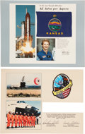 Explorers:Space Exploration, Space Shuttle Discovery (STS-41-D) Flown Kansas Flag andEndeavour (STS-49) Flown Patch.... (Total: 2 Items)
