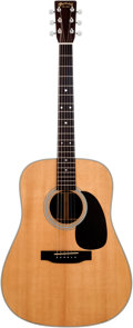 Musical Instruments:Acoustic Guitars, 2002 Martin D-28 Natural Acoustic Guitar, Serial # 869691....