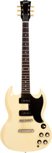 Musical Instruments:Electric Guitars, 1963 Gibson SG Special White Solid Body Electric Guitar, Serial #59304....