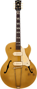 Musical Instruments:Electric Guitars, 1956 Gibson ES-295 Gold Semi-Hollow Body Electric Guitar Signed by Scotty Moore, Serial # A 26814. ...