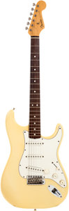 Musical Instruments:Electric Guitars, 1982 Fender '62 Stratocaster Re-Issue White Solid Body ElectricGuitar, Serial # V003259....
