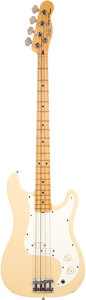 Musical Instruments:Bass Guitars, 1982 Fender Bullet Bass Deluxe White Bass Guitar, Serial #E005724....