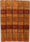 Books:Fine Bindings & Library Sets, [William Jerdan]. National Portrait Gallery of Eminent Personages... London: Fisher, Son & Jackson, 1834. Five q... (Total: 5 Items)