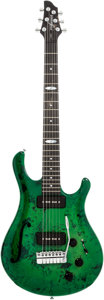 Musical Instruments:Electric Guitars, 2009 Flaxwood Liekki Greenburst Solid Body electric Guitar, Serial# 0908588....