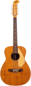 Musical Instruments:Acoustic Guitars, Circa 1968 Fender Villager Natural 12-String Acoustic Guitar, Serial # 27038. ...