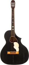 Musical Instruments:Acoustic Guitars, 1913 Stathopoulo AY-25 Black Acoustic Guitar, Serial # 5767....
