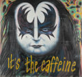 Post-War & Contemporary:Contemporary, RON ENGLISH (American, b. 1959). It's the caffeine, circa 1999. Spraypaint and acrylic on wood (in 7 parts). 103 x 109 i...