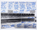Autographs:Photos, 1980's-2000's New York Yankees Multi-Signed Large Photograph....