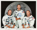 Autographs:Celebrities, Apollo 11 Crew-Signed White Spacesuit NASA Color Photo. ...