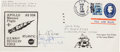 Explorers:Space Exploration, Apollo 9 Crew-Signed Large-Size Recovery Ship Cover from the U.S.S.Guadalcanal. ...
