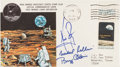 "Autographs:Celebrities, Apollo 11 Crew-Signed ""Insurance-Type"" Moon Landing Cover with Recovery Ship Mementoes.... (Total: 3 Items)"