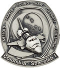 Explorers:Space Exploration, Space Shuttle Columbia - Spacelab 1 (STS-9) Flown SilverRobbins Medallion Directly from the Personal Collection o...
