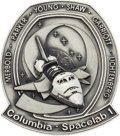 Explorers:Space Exploration, Space Shuttle Columbia - Spacelab 1 (STS-9) Unflown Silver Robbins Medallion Directly from the Personal Collection...