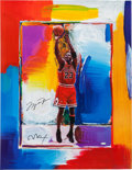 Basketball Collectibles:Others, Michael Jordan Signed Peter Max Lithograph....
