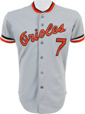 Baseball Collectibles:Uniforms, 1981 Mark Belanger Game Worn Baltimore Orioles Jersey. ...