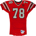 Football Collectibles:Uniforms, 1987-90 Mike Kenn Game Worn Atlanta Falcons Jersey. ...