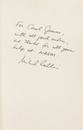 Autographs:Celebrities, Michael Collins: Carrying the Fire Book Signed....