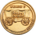 Explorers:Space Exploration, Gemini 5 Flown Gold-Plated Silver Fliteline Medallion....