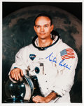 Autographs:Celebrities, Michael Collins Signed White Spacesuit Color Photo. ...
