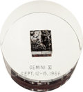 Explorers:Space Exploration, Gemini 11 Flown Heat Shield Plug in Lucite Display. ...