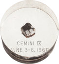 Explorers:Space Exploration, Gemini 9A Flown Heat Shield Plug in Lucite Display....