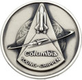Explorers:Space Exploration, Space Shuttle Columbia (STS-1) Flown Silver Robbins Medallion Directly from the Personal Collection of Mission Com...