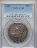 Bust Half Dollars: , 1833 50C XF45 PCGS. PCGS Population (195/1033). NGC Census:(152/1057). Mintage: 5,206,000. Numismedia Wsl. Price for probl...