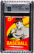Baseball Cards:Unopened Packs/Display Boxes, 1959 Topps Baseball 5-Cent Wax Pack GAI Gem Mint 9.5! ...