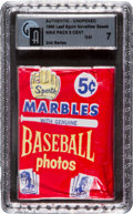 Baseball Cards:Unopened Packs/Display Boxes, 1960 Leaf Baseball 2nd Series 5-cent Wax Pack GAI NM 7. ...