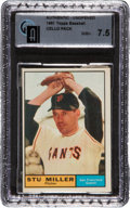 Baseball Cards:Unopened Packs/Display Boxes, 1961 Topps Baseball Cello Pack GAI NM+ 7.5. ...
