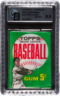 Baseball Cards:Unopened Packs/Display Boxes, 1962 Topps Baseball 4th Series 5-Cent Wax Pack GAI NM-MT+ 8.5Possible Mays or Aaron. ...