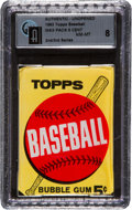 Baseball Cards:Unopened Packs/Display Boxes, 1963 Topps Baseball 2nd/3rd Series 5-Cent Wax Pack GAI NM-MT 8! ...