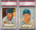 Baseball Cards:Singles (1950-1959), 1952 Topps High Numbers PSA NM 7 Pair (2)....