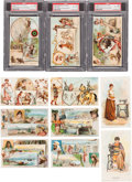 Non-Sport Cards:Sets, 1887-1892 K4, K8 Arbuckle Coffee and H639 Singer Sewing Sets Trio(3). ...
